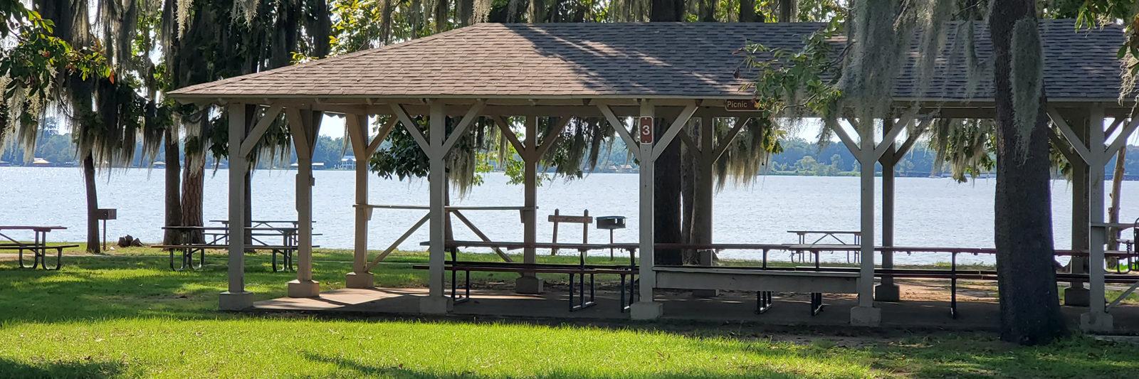 Lake Blackshear Header Picnic Shelters For Rent