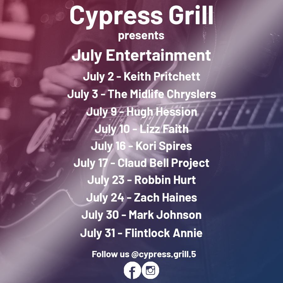 CypressGrill July