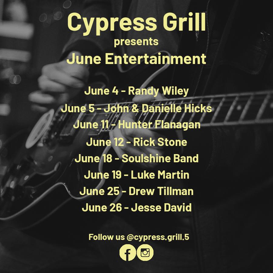 CypressGrill June