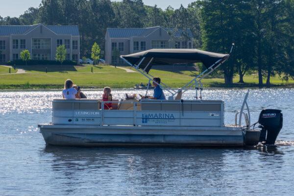 Family Pontoon Boating on Lake Blackshear x